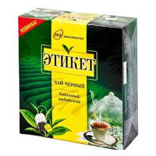 <b>Чай</b> TKN <b>Этикет черный</b> пакетики 100*1г (6) ярлык — купить в ...