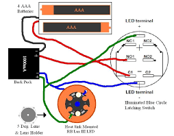 basic buck puck variant led wiring a latching illuminated switch it should make it so that when you push the button the saber and the button light up and to turn them off you push it again am i correct