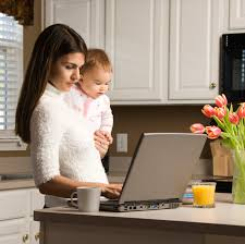 work at home today mother baby