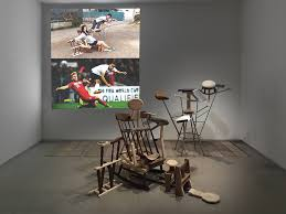 coming soon at palais de tokyo art jobs news taro izumi tickled in a dream be fishing 2014 wood iron and video variable dimensions copy taro izumi collection of m museum for visual culture