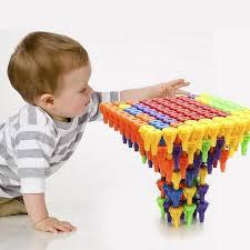 Finejo: Kid <b>96 PCS</b> Plastic Building Block Set Preschool Children ...