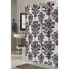 bathroom window carnation carnation home fashions ez on grommet damask fabric shower curtain wal