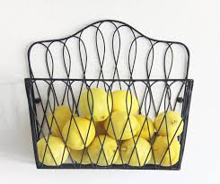 magazine rack wall mount: amazoncom tagway home wall mount storage magazine rack fruit basket