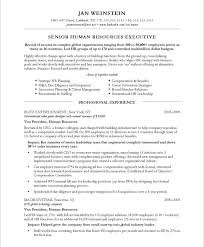 hr executive page1 sample resume executive