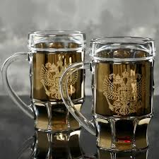 "<b>Кружки для пива ПИНТА</b> 500 мл 2 штуки ""Герб"" — купить в ..."