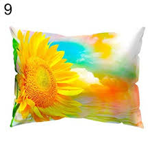 Buy kelaTSI <b>Sunflower Printed</b> Rectangle Throw Pillow Case <b>Sofa</b> ...