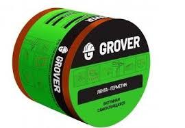"""<b>Лента</b>-<b>герметик</b> """"<b>Grover</b>"""" <b>битумная</b> коричневая 10см х 3м"""