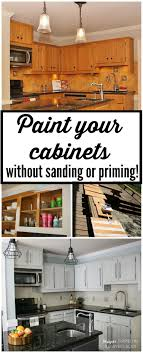 Diy Staining Kitchen Cabinets Stain Kitchen Cabinets Without Sanding