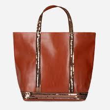 <b>Сумка</b>-<b>шоппер кожаная</b> с пайетками Vanessa Bruno   <b>La Redoute</b>