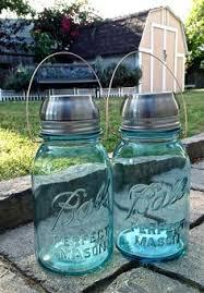 2 vintage blue ball mason jar solar hanging garden lights vintage blue solar mason jar ball mason jar solar lights