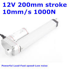 Waterproof IP65 <b>12V 200mm 8 inches stroke</b> 1000N 100KG 225LBS ...