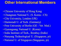 Other International Members F Chinese University of Hong Kong F Chungnam National U   S SlidePlayer