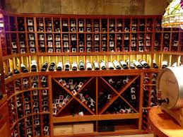 all heart redwood wine racks and bins lighted display row solid x cubes and basement wine cellar idea
