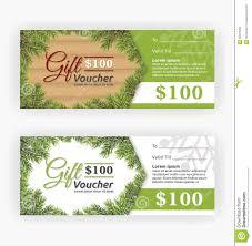 christmas leaves border theme gift voucher certificate stock christmas leaves border theme gift voucher certificate