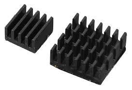 Алюминиевые <b>радиаторы</b> охлаждения для <b>Raspberry Pi</b> (2 шт.)