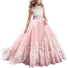 FYMNSI Flowers Girls Applique Tulle Lace Wedding ... - Amazon.com