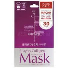 <b>Маска для лица</b> Japan gals <b>3</b> слоя коллагена, Collagen mask ...