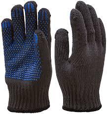 <b>Перчатки</b> х/б ДВОЙНЫЕ с <b>ПВХ</b>, 120 гр, <b>черный</b>