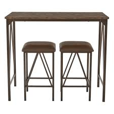 three piece dining set: osp designs catalina  piece dining set