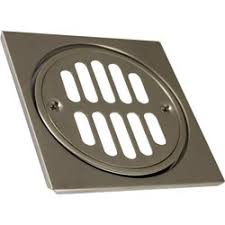 tub shower drain cover bathroom accessory brushed