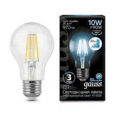 Лампочка 102802210-S <b>Лампа Gauss LED Filament</b> A60 E27 10W ...