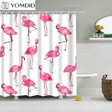 <b>New Colorful</b> Shower Curtain <b>Eco friendly Flamingo</b> Plant Flower ...
