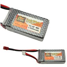 Power <b>LiPo Battery 11.1V 1500Mah 3S</b> 40C MAX 60C T Plug For ...