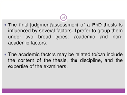 Examiners      comments on introduction chapter in theses