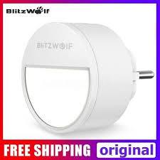 BlitzWolf 3000K <b>Smart LED Night Light</b> Plug-In Bedside Wall Lamp ...
