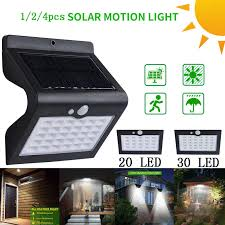 16 <b>LED Shark Solar Light</b> PIR Motion Sensor <b>Outdoor Solar</b> Garden ...