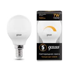 <b>Лампа Gauss</b> LED <b>Шар</b> E14 6.5W 520lm 3000K