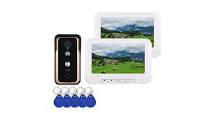 2 Monitor <b>7 inch</b> Color Video Intercom Door Phone System With ...