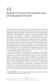kaldor s vision of the growth and development process springer inside