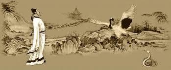 Peinture symbolisant la légende du combat du serpent et de l'oiseau