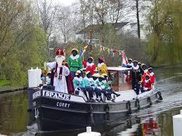 Sinterklaas op boot