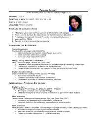Master Training Specialist Resume. resume examples sample of ... resume examples sample of international resume with summary of