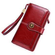 Buy Long Leather Female Clutch Purse Cellphone ... - Aliexpress.com