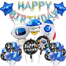 outer space theme happy birthday banner bunting spaceship rocket planet boys party baby shower