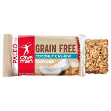 Coconut Cashew <b>Grain Free Granola Bars</b> - 12 Count | Caveman ...