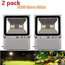 richday 2pcs led flood light 100w super bright outdoor lighting waterproof 85 265v security lights 3000k 3500k warm white floodlight spotlight bright outdoor lighting