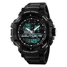 SKMEI Men's 1164 <b>LED</b> and Pointer Display 50M <b>Waterproof Sports</b> ...