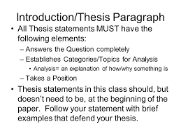 essay writing for history classes basic format of all essays  introductionthesis paragraph all thesis statements must have the following elements answers the