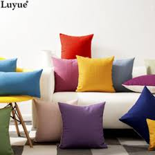 4545cm oriental pure color red yellow green blue purple line cotton pillow sofa cushion pillow set office car windows 21 colors discount black cotton sofa black sofa set office