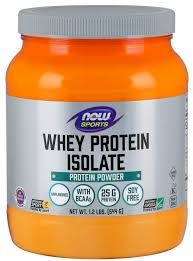 NOW <b>Sports Nutrition</b>, <b>Whey Protein Isolate</b>, 25 G With BCAAs ...