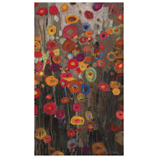 mirror wall decor circle panel: picture of floral parade canvas art x in