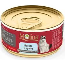 <b>Консервы Molina Натурально мясо</b> в желе лосось и тунец для ...