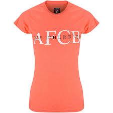 AFC Bournemouth Womens <b>Summer</b> T Shirt - <b>Peach</b>