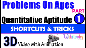 problem on ages 1 aptitude interview questions papers and answers problem on ages 1 aptitude interview questions papers and answers online videos lectures preparation