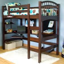 twin loft bed with desk bunk bed desk combo costco