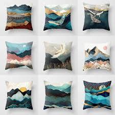 Modern <b>Nordic</b> Ins <b>Gradient colored</b> Cushion Cover Home Sofa ...